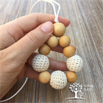 Crochet Bead 'Nothing but Naturals' Beaded Pendant Necklace | Nursing Necklace